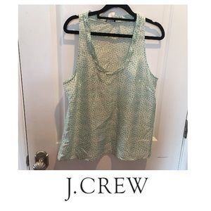 J. Crew Twyla Silk Print Polka Dot Print Tank
